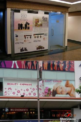 Picture of Installation of printed graphic/sticker on glass panel/wall